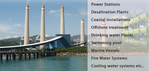 Electrolyzer, Drinkking Water, Disinfection, Cooling Tower, Power Plant, Seawater Treatment etc..